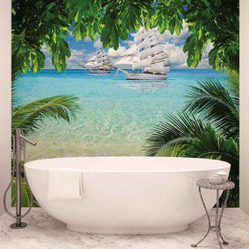 Ταπετσαρία τοιχογραφία Tropical Beach Island