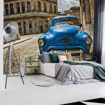 Ταπετσαρία τοιχογραφία Vintage Car Cuba Havana