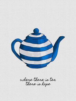 Ταπετσαρία τοιχογραφία Where There Is Tea