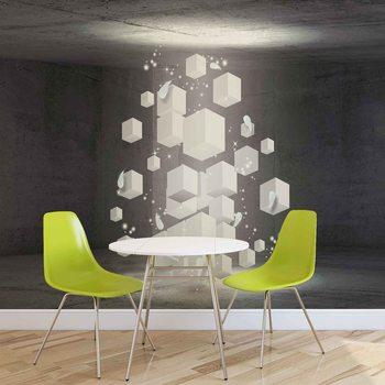 Ταπετσαρία τοιχογραφία White Dices