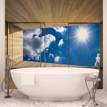 Ταπετσαρία τοιχογραφία Window Sky Clouds Sun Nature