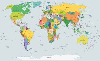 Ταπετσαρία τοιχογραφία  World Map