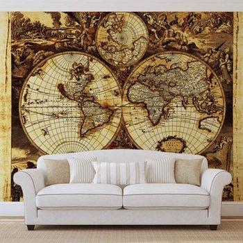 Ταπετσαρία τοιχογραφία World Map Vintage