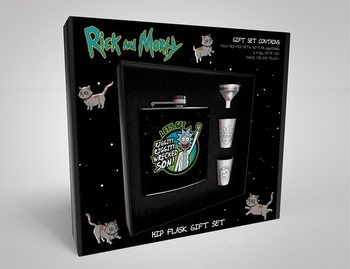 Hip Flask: Gift Set Rick And Morty - Wrecked