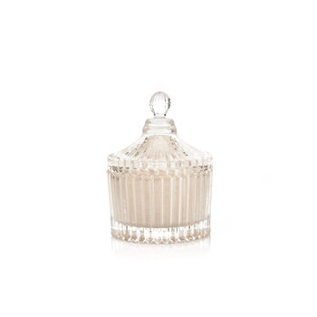 Candle with Lid Metal - Vanilla, White 9 cm Домашен Декор