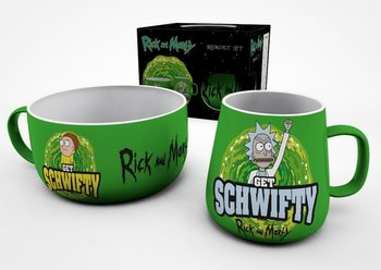 Breakfast Set Rick And Morty - Get Schwifty