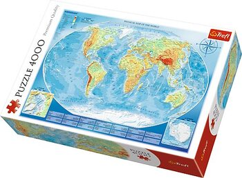 пъзели Large Physical Map of the World