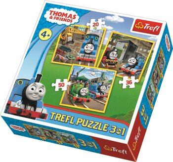 Πъзели Thomas and Friends: Thomas Goes into Action 3in1