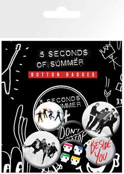 Значка комплект 4 броя 5 Seconds of Summer - New