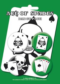 Значка комплект 4 броя ACE OF SPADES