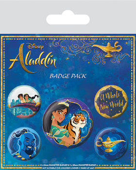 Значка комплект 4 броя Aladdin - A Whole New World