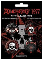 Значка комплект 4 броя ALCHEMY - La mort