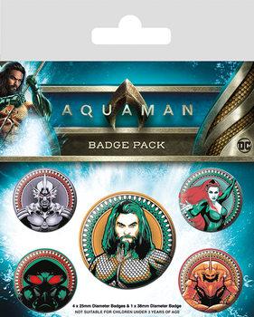 Значка комплект 4 броя Aquaman - Heavy Hitters Of The Seas