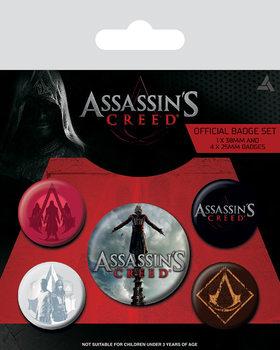 Значка комплект 4 броя Assassin's Creed Movie