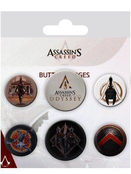 Значка комплект 4 броя Assassin's Creed Odyssey - Mix