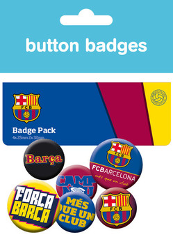 Значка комплект 4 броя Barcelona - Crest