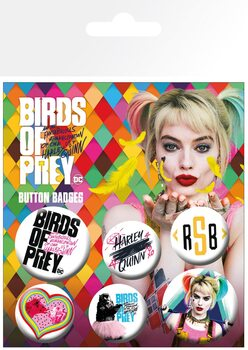 Значка комплект 4 броя Birds Of Prey: And the Fantabulous Emancipation Of One Harley Quinn - Mix