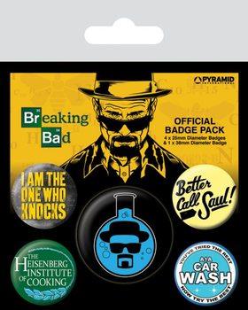 Значка комплект 4 броя Breaking Bad - Heisenberg Flask