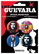 Значка комплект 4 броя CHE GUEVARA