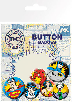 Значка комплект 4 броя DC Comics - Heroes & Villains