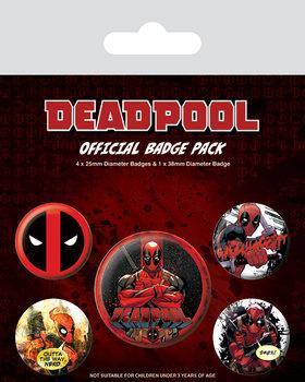 Значка комплект 4 броя Deadpool
