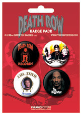Значка комплект 4 броя DEATH ROW RECORDS