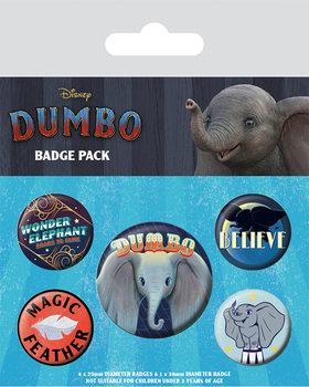 Значка комплект 4 броя Dumbo - The Flying Elephant