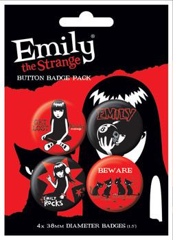 Значка комплект 4 броя EMILY THE STRANGE 1