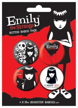 Значка комплект 4 броя EMILY THE STRANGE 2