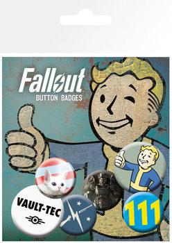 Значка комплект 4 броя  Fallout 4 - Mix 1