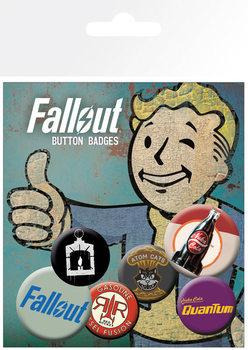 Значка комплект 4 броя Fallout 4 - Mix 2