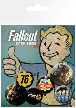 Значка комплект 4 броя Fallout 76 - T51b