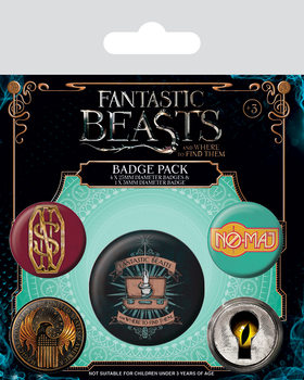 Значка комплект 4 броя Fantastic Beasts And Where To Find Them