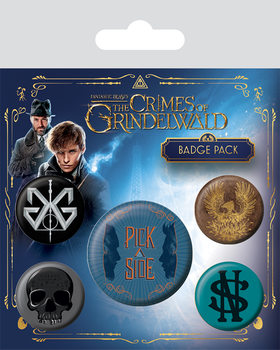 Значка комплект 4 броя  Fantastic Beasts The Crimes Of Grindelwald