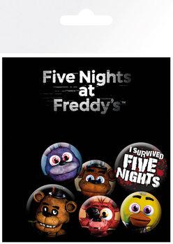 Значка комплект 4 броя Five Nights at Freddys