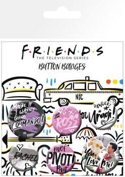 Значка комплект 4 броя Friends - Doodle