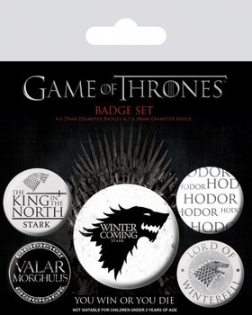 Значка комплект 4 броя Game of Thrones - Winter is Coming