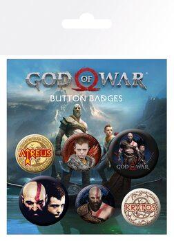 Значка комплект 4 броя God Of War - Mix