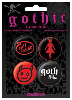 Значка комплект 4 броя GOTHIC
