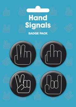 Значка комплект 4 броя HAND SIGNALS