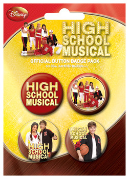 Значка комплект 4 броя HIGH SCHOOL MUSICAL - gym