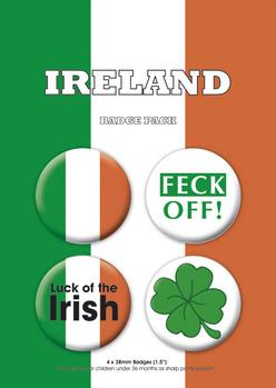 Значка комплект 4 броя IRELAND