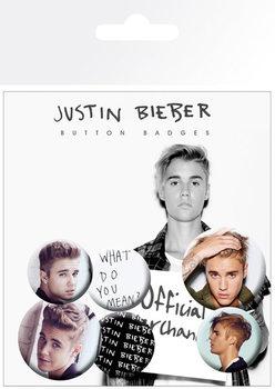 Значка комплект 4 броя Justin Bieber - Mix 3