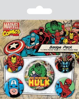 Значка комплект 4 броя Marvel Retro - Hulk