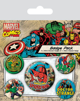 Значка комплект 4 броя Marvel Retro - Spider-Man