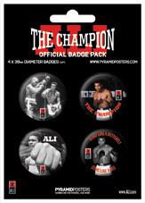 Значка комплект 4 броя  MUHAMMAD ALI - champion