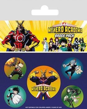 Значка комплект 4 броя My Hero Academia - Characters