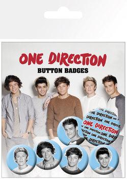 Значка комплект 4 броя One Direction (B&W)