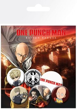 Значка комплект 4 броя One Punch Man - Mix