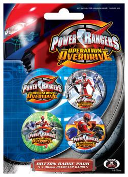 Значка комплект 4 броя POWER RANGERS - Colours